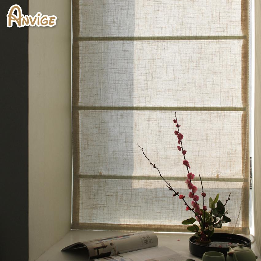 2018 Wholesale Half Blackout Curtains Linen Fabric Roman Blinds Roller Window Treatment Customized Drapes From Natal 8188