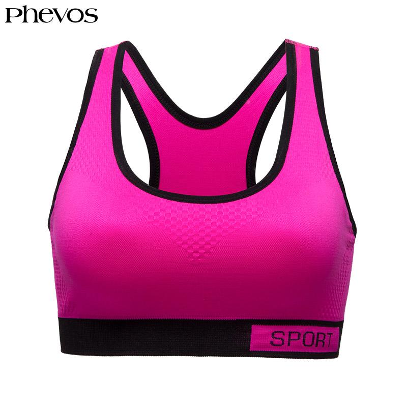 51e090ded 2019 Phevos Women Sports Top Bra Racerback Fitness Running Yoga Top Bra For  Gym Push Up Plus Size Sport Sexy Deportivo Mujer From Kuaigoubian