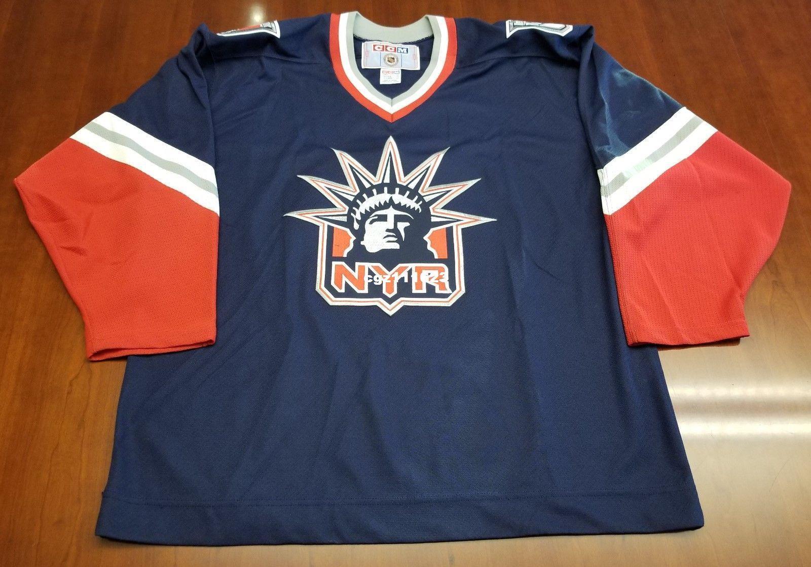 c9aa0c701c1 ... italy 2018 wholesale custom new york rangers vintage ccm cheap hockey  jersey lady liberty blue mens