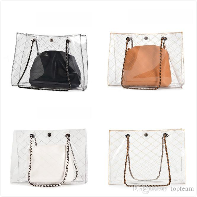 2018 Women Luxury Bags Fashion Clear Jelly Designer Handbag Casual Shoulder  Messenger Bag New Sac Femme Designer Bag Handbag Luxury Bags Online with ... be411e0c57fc4
