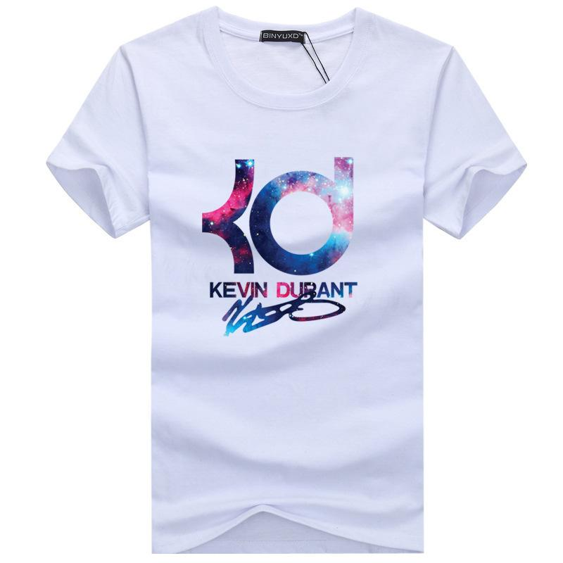 381c7e054f1c8 Compre 2019 Nueva Marca De Verano De Baloncesto KD Hombres De Manga Corta Camiseta  De Algodón Hombres Hip Hop Casual O Cuello Masculino Tops Camisetas A ...