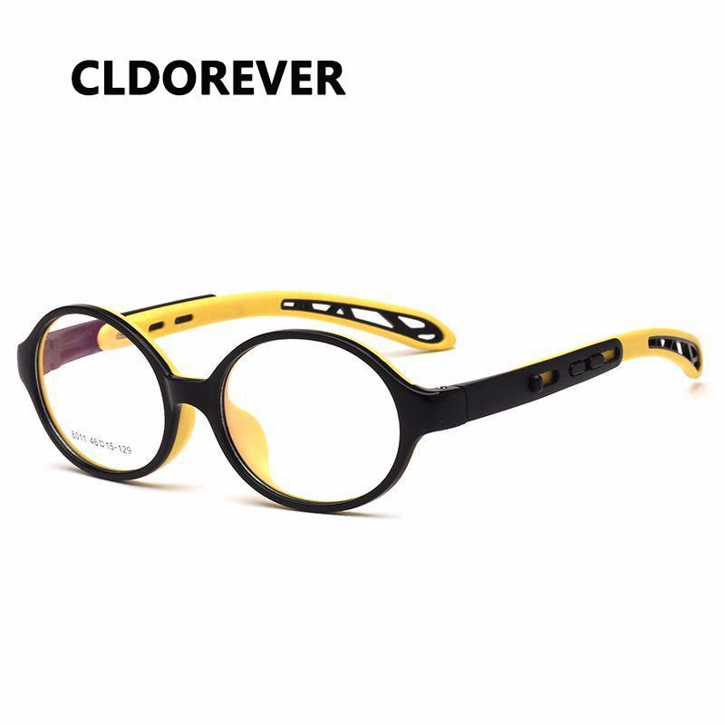 a207fe8a647 2018 TR90 Silicone Kids Optical Glasses Frame Leg Retractable ...