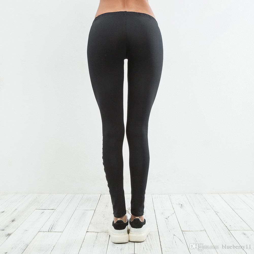 Sıcak Bayanlar Beyonce Ivy Park Harfler Baskı Nefes Streç Uzun Pantolon Skinny Tayt Bayan Atletik Joggers1