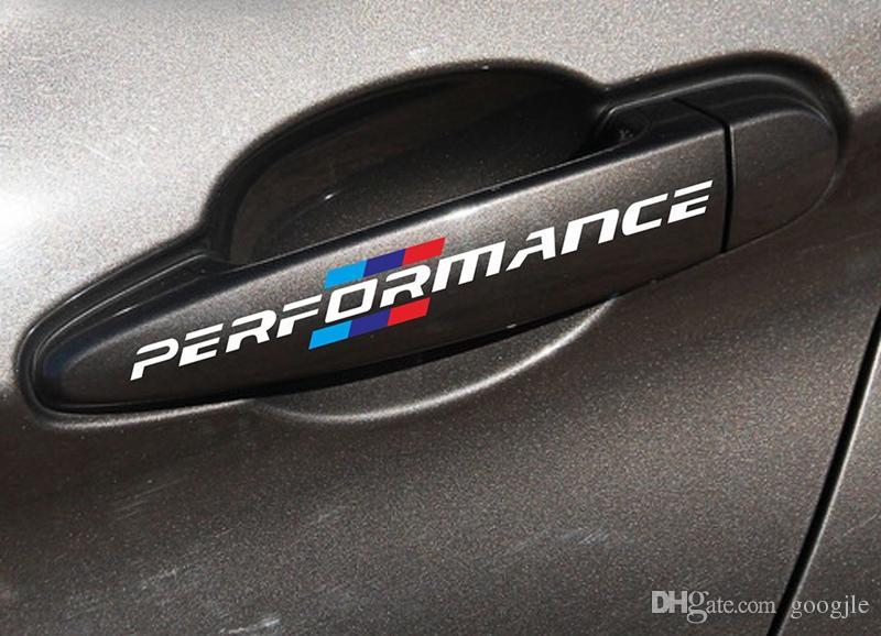 4 قطعة / المجموعة سيارة التصميم سيارة مقبض الباب ملصقات الديكور الأداء العالمي لسيارات bmw f30 f34 f10 e46 e39 e60 e90 e70 e71 x1 x3 x5 x6