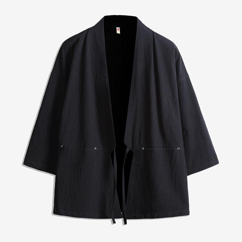 d046bea350fab Satın Al Erkekler Japonya Tarzı Pamuk Hırka Gömlek Ceket Erkek Streetwear  Moda Kalça Hop Rahat Ceket Gevşek Kimono Ceket Boyutu M 5XL D18100802, ...