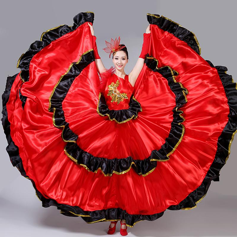 Acquista Gonna Flamenco Spagnolo Senorita Ballerina Di Flamenco Vestito  Operato Costume Brasiliano Costume Danza Gitana Ro Dress S XXXL DL2891 A   45.18 Dal ... 650407947de