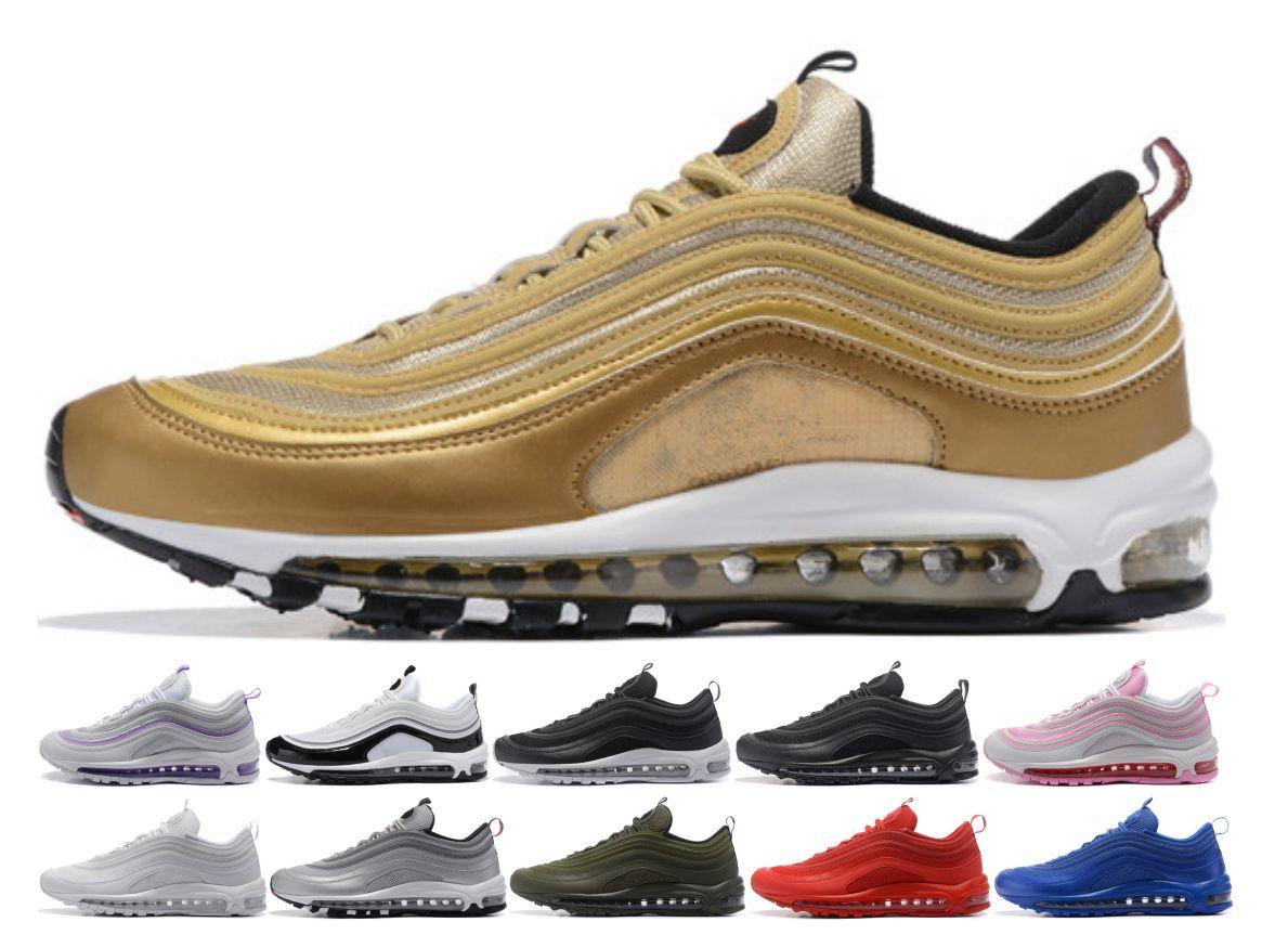 best sneakers 99093 4b390 Compre 2018 Nike Air Max 97 Airmax Nuevos Hombres De Aire Bajo Vapormax 97  Cojín Zapatos Casuales Respirables Masaje Barato Correr Zapatillas Planas  Hombre ...