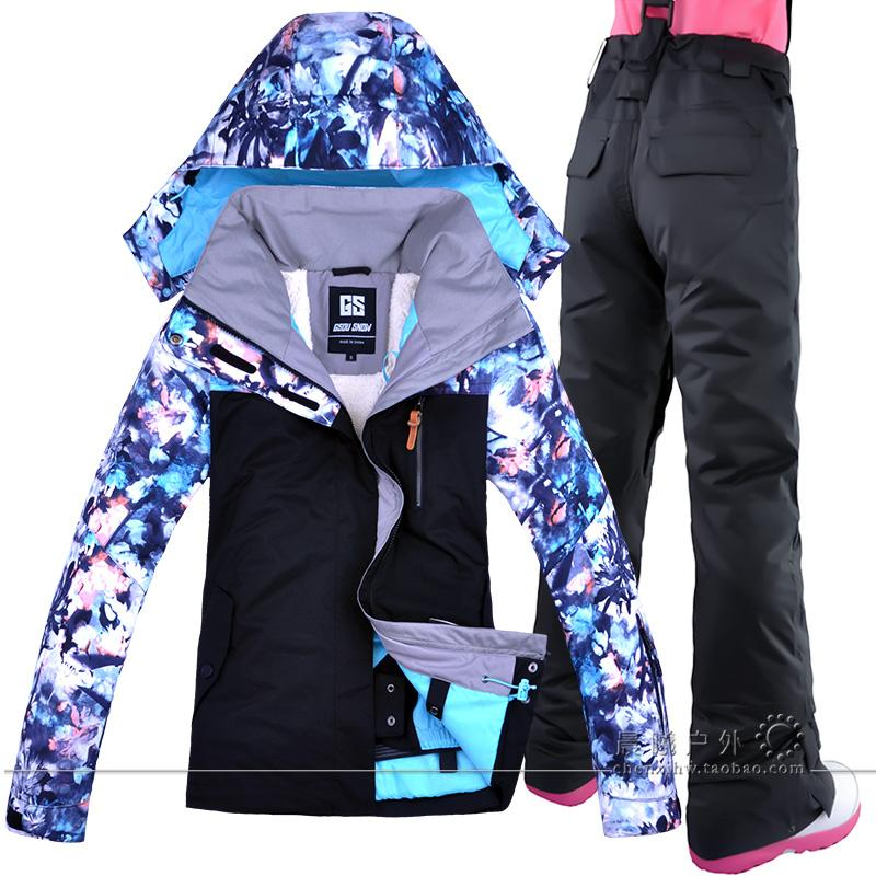 d9cf866656 Gsou Snow Women Skiing Suit Snowboard Windproof Waterproof Outdoor Sport  Wear Camping Riding Super Warm Clothing Hot New Style UK 2019 From  Longanguo