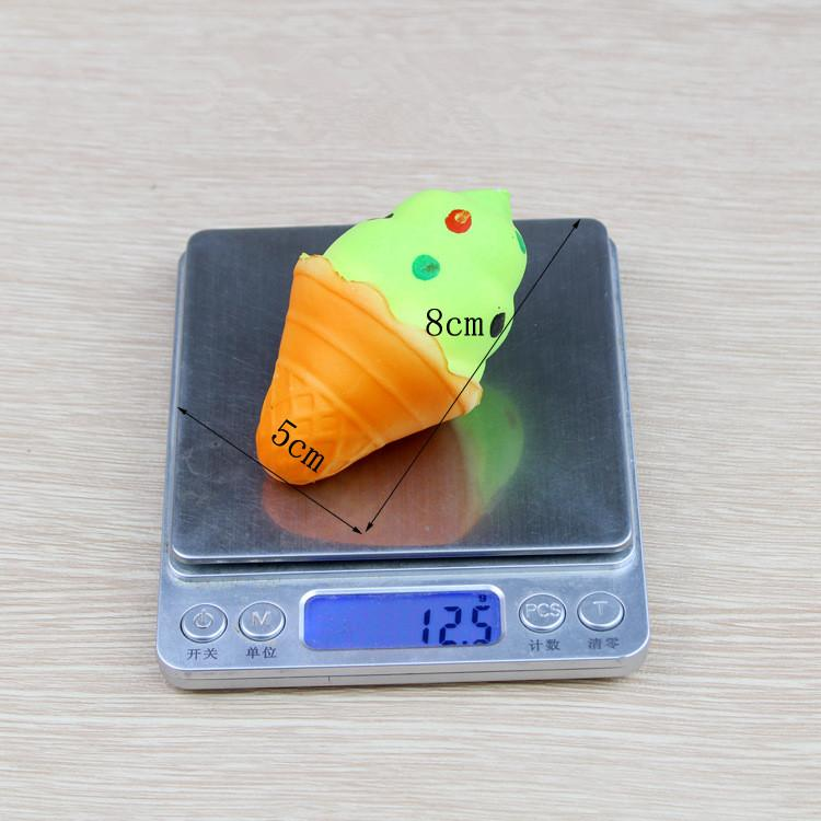 Mini Kawaii Icecream Jumbo Squishy Colorful Sprinkle Ice Cream Super Slow Rising Squeeze Pendant Phone Straps Fun Kid Toy Gift