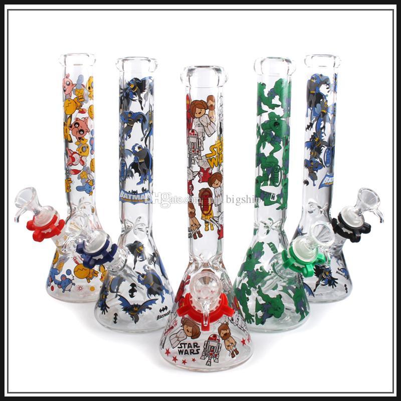 4 типа стеклянный бонг воды трубы нефтяные вышки бонг 10 дюймов стакан воды трубы стекла барботер