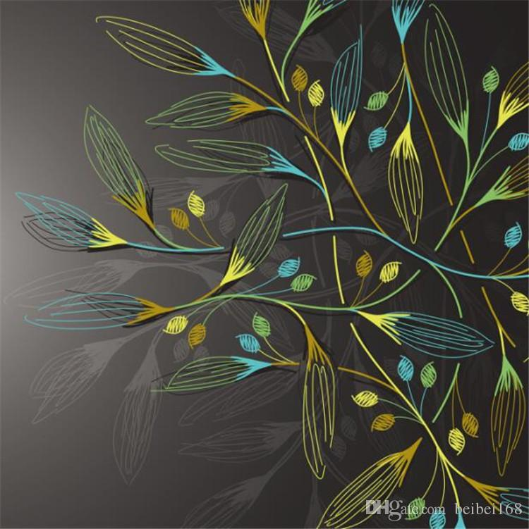 Grosshandel 3d Abstract Wall Murals Dark Leaves Hd Fototapete Fur Schlafzimmer Wall Paper Benutzerdefinierte Grosse 3d Wallpaper Walls Washable Tapete