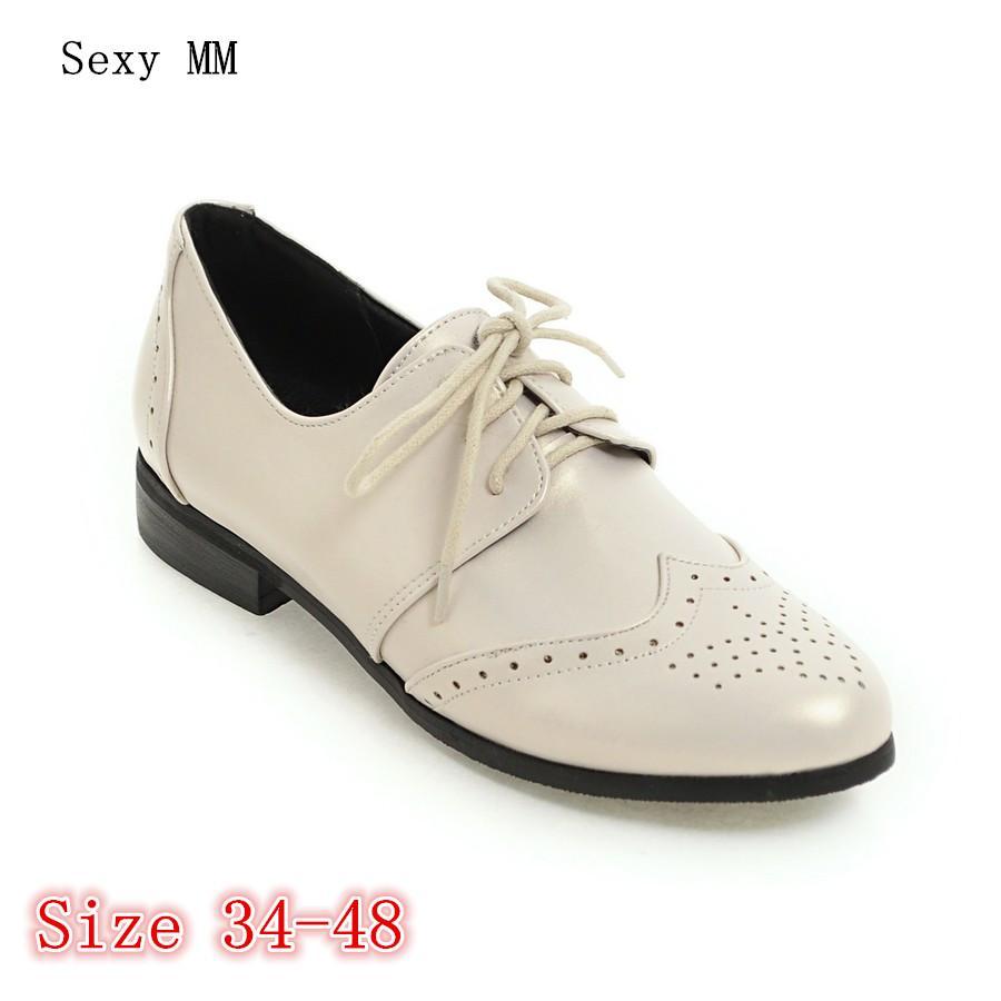 Planos Zapatos Oxfords Mocasines Cbdxeor Compre Mujer Con Cordones wNv8n0m