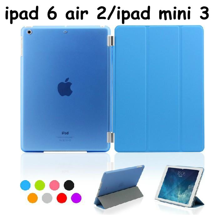 For ipad pro 9.7 case Official Flip Sleep wake Smart Cover Magnetic Cases PU leather stand covers for Ipad 3 4 5 6 air 2 ipad mini 2017 new