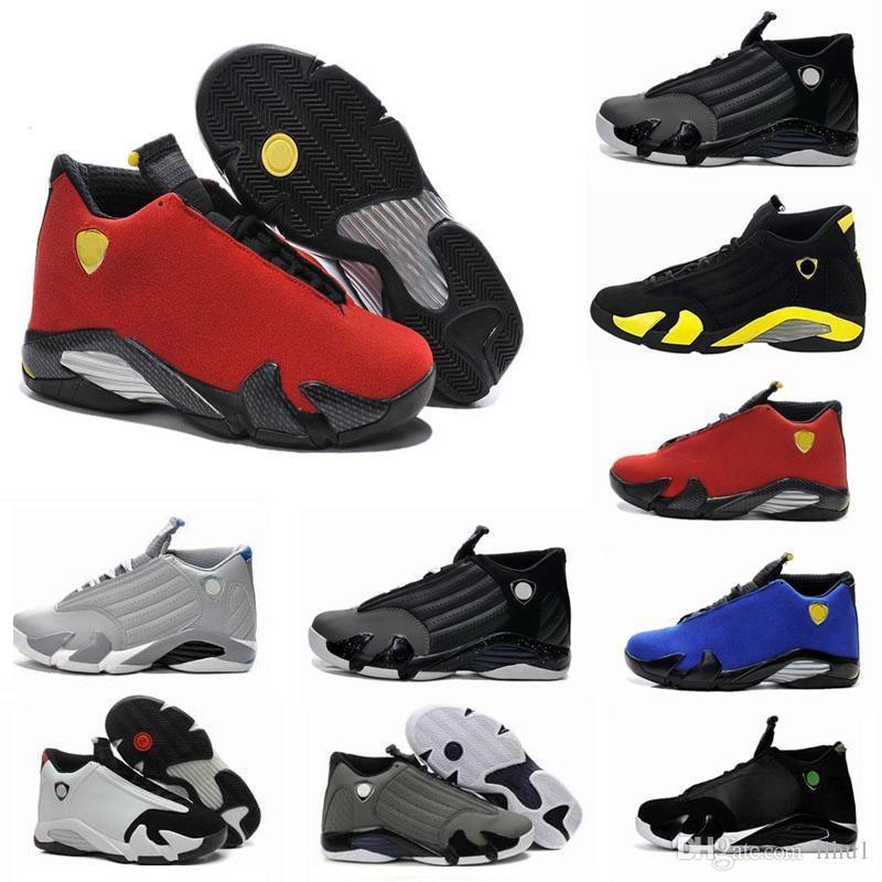 4aa4c2ede929 Classical 14 XIV Basketball Shoes Men Fusion Purple Last Shot Black Fusion  Varsity Red 14s XIV Playoffs Sneakers Eur Size 41 47 Boys Tennis Shoes Kids  ...