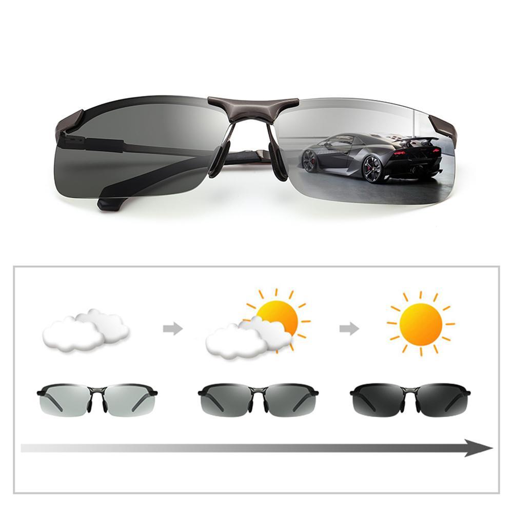c31bf00da6531 Compre Clássico Condução Fotocromática Óculos De Sol Dos Homens Polarizados  Oculos Masculino Descoloração Óculos De Sol Para Homens Anti Reflexo Óculos  2018 ...