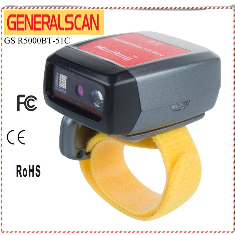Generalscan Mini Bluetooth Barcode Scanner for Android&iOS Phones/Tablet ,  Small Finger Codes Reader , Wireless Ring Scanner