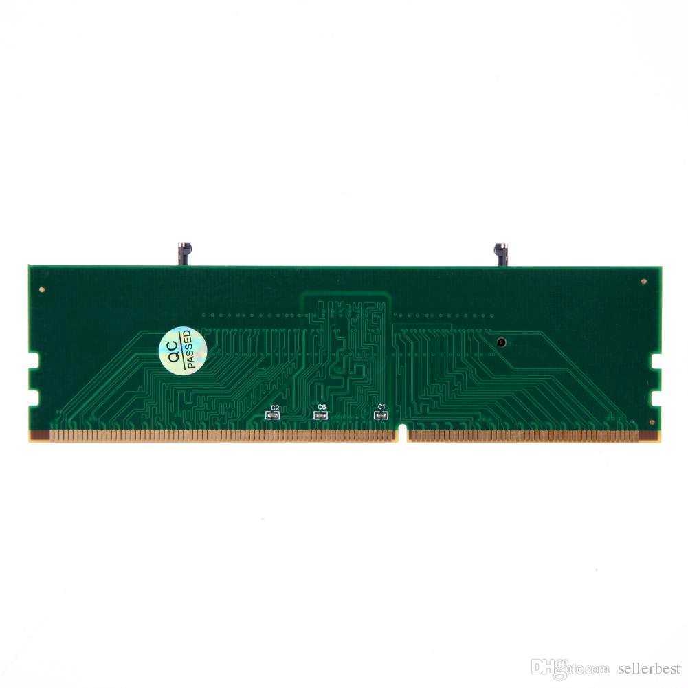 VKTCH New DDR3 Laptop SO-DIMM to Desktop DIMM Memory RAM Connector Adapter DDR3 1.5V 240 Pin Desktop DIMM Male Connector