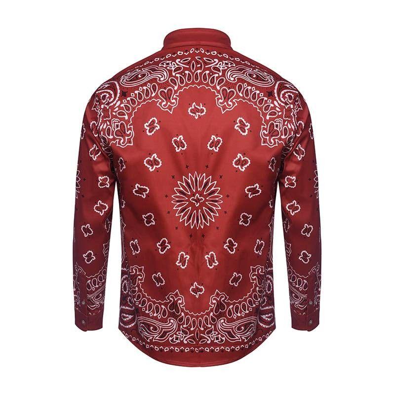 Fashion Floral Shirt Mens Designs Long Sleeve Casual Brand Fancy Shirt Men Slim Fit High Quality Camisas Masculina Printed Shirt