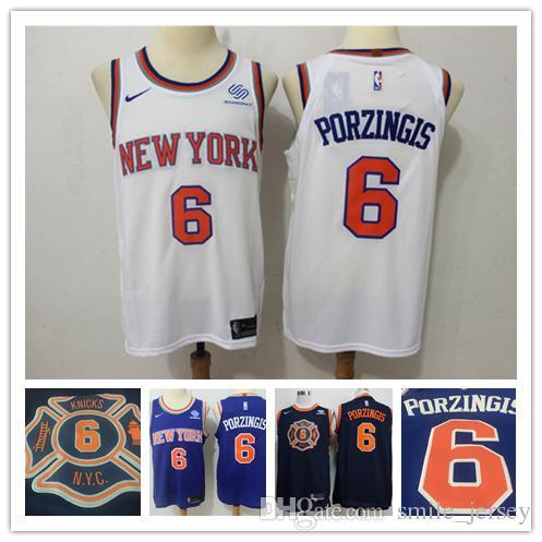 2018 2019 New Mens 6 Kristaps Porzingis New York Knicks Basketball Jerseys  Stitched Embroidery Mesh Dense AU Knicks Kristaps Porzingis Jerseys From ... 166ff4bb1