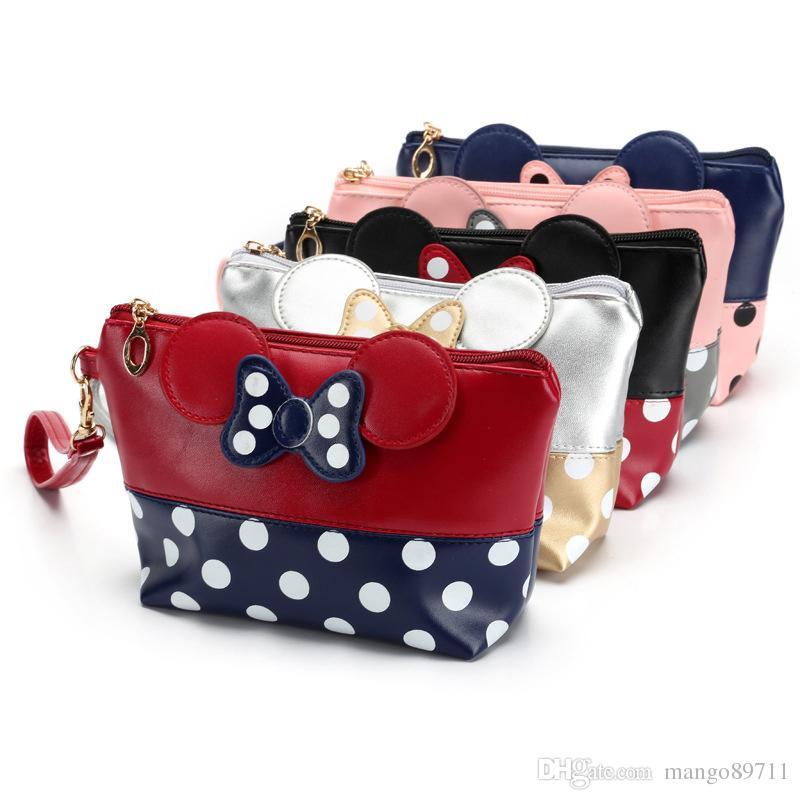 Nova composição da forma Sacos Com Multicolor Padrão bonito Cosméticos pouchs para viagens Ladies Bolsa Mulheres Cosmetic Bag