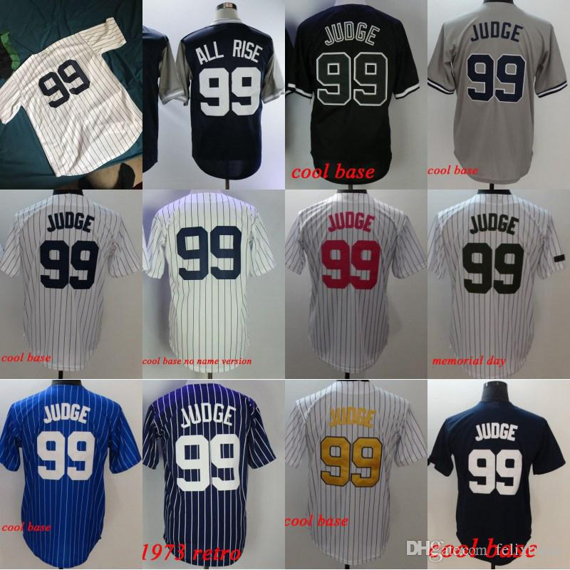 7336d5702 Aaron Judge  99 Cool Base Baseball Jerseys Player Weekend All Rise ...