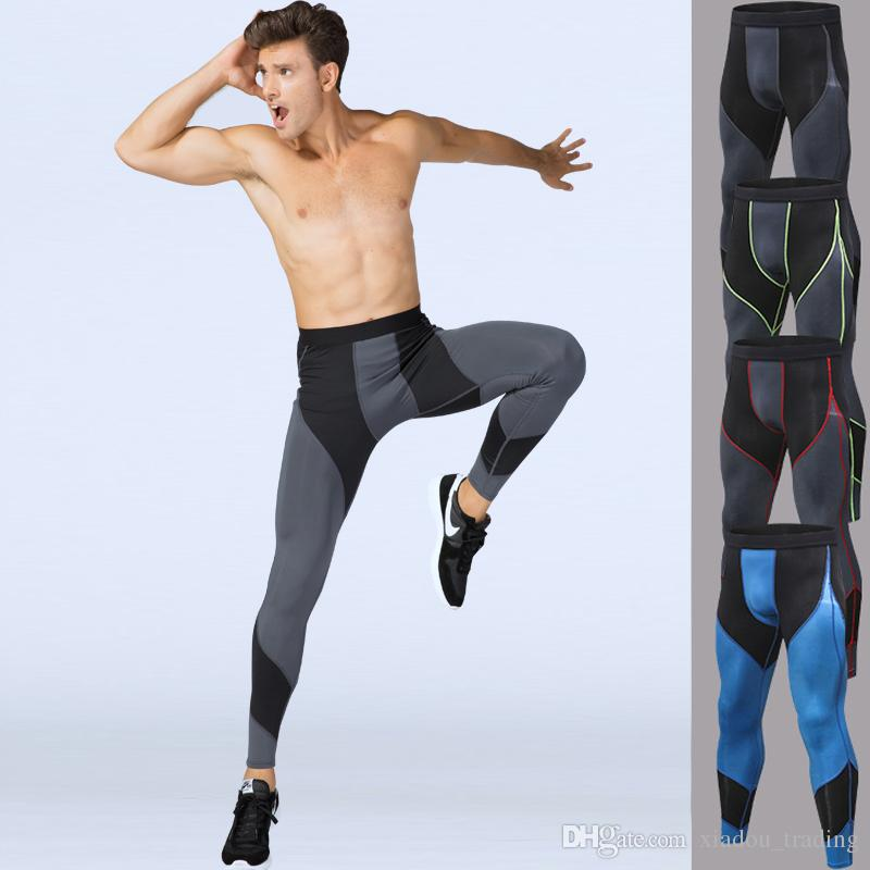 fddc1dfcfc Men's Compression Sport Pants Quick Dry Tights Pants Running Yoga Leggings  Male Gym Fitness Clothing Training Sport Jogging Trouser