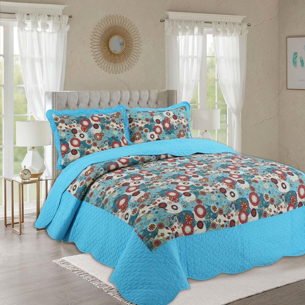 Großhandel Sommer 100 Baumwolle Patchwork Quilt 1 Stück Twin Size