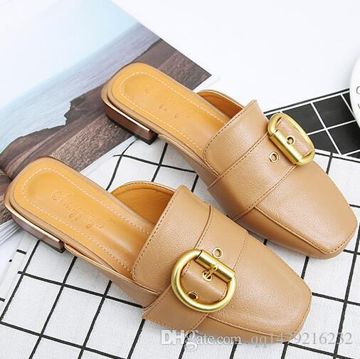 2018 sıcak satış kadın kalın topuk sandalet ayakkabı ofis bayan rahat kalın alt sandalet siyah kısa topuklu kız moda siyah ayakkabı a25