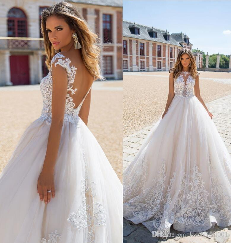 319962d854d Summer Boho Lace Wedding Dresses 2018 V Back Open Vintage Lace Beading Formal  Bridal Gowns Dubai Gorgeous Wedding Gown. 2017 White Wedding Dresses Lace  Ball ...