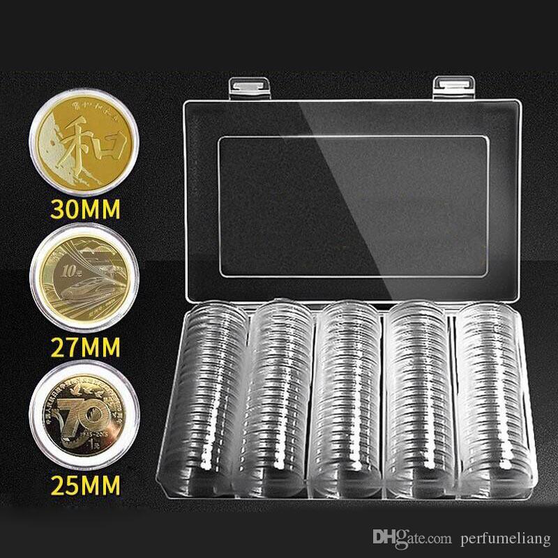 Großhandel 202527 30mm Münze Kapseln Runde Kunststoff Münzhalter