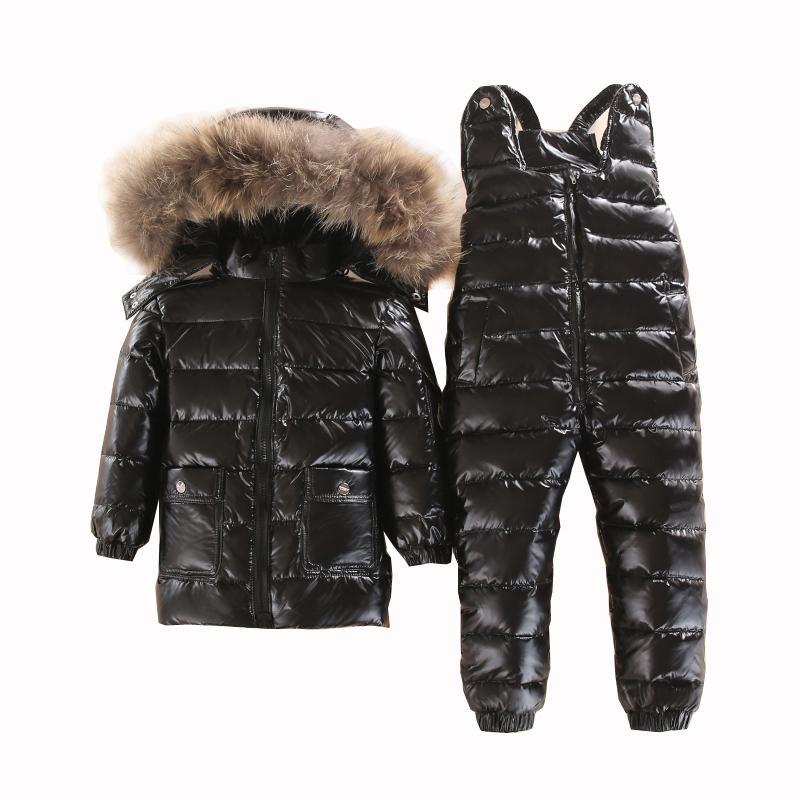 ba09bd3452b7 Russian Winter Warm Children Clothing Set White Down Boys Snowsuit ...