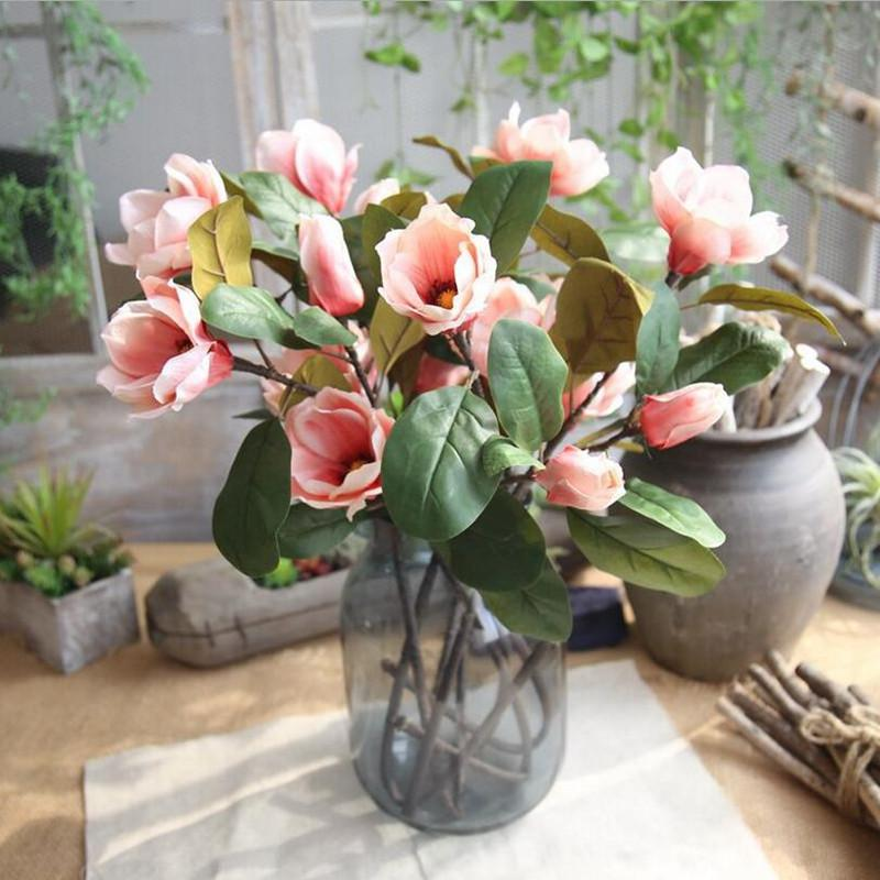 2018 wholesale artificial magnolia flower dancing magnolia 2018 wholesale artificial magnolia flower dancing magnolia simulation silk flowers branch home wedding party decoration fake flowers from sunyunqinglina mightylinksfo