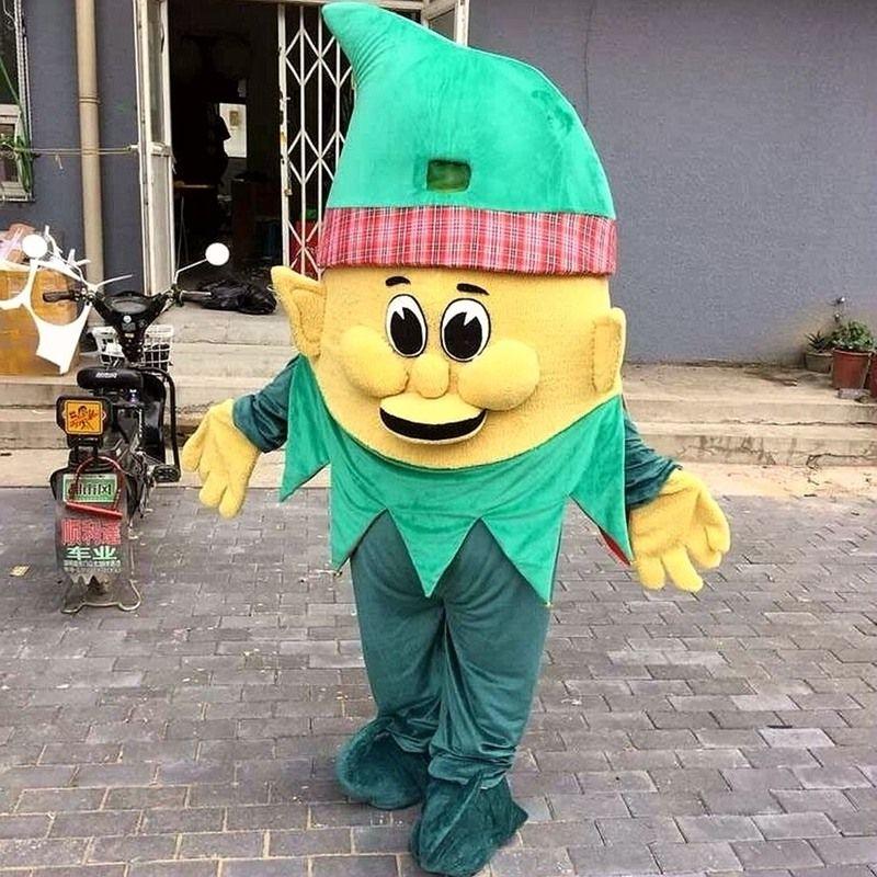 Assistente de mascote trajes Cartoon personagem adulto Sz 100% Real imagem 089