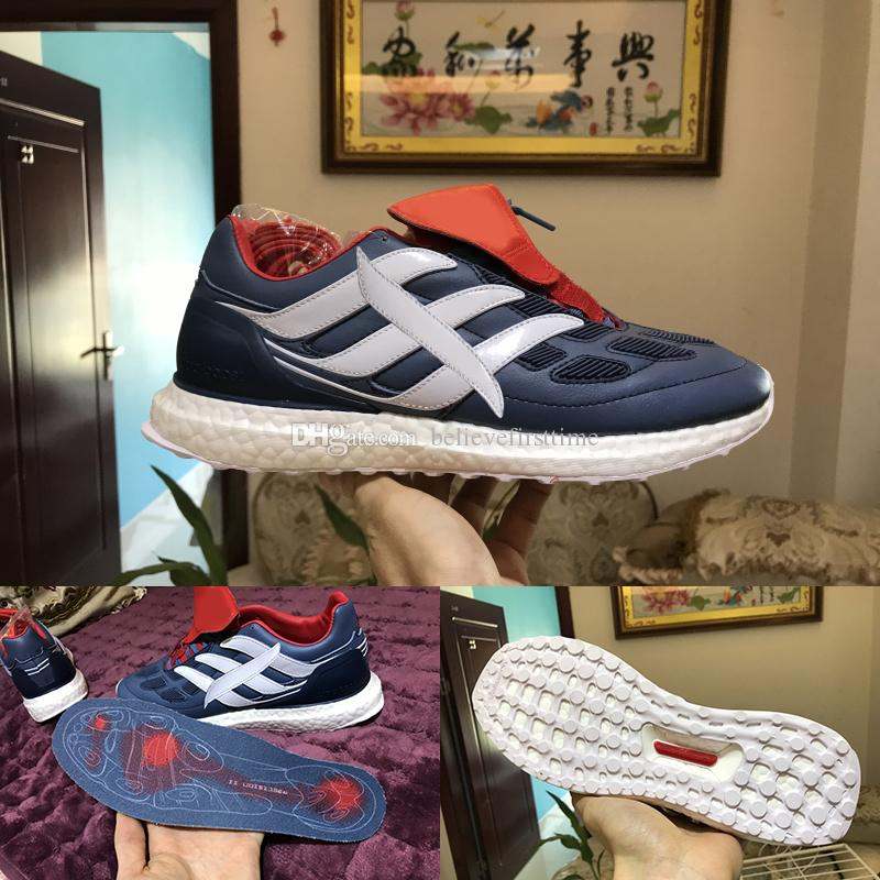 Predator Precision Ultra Boost TR UB CM7913 Mens Running Shoes Soccer  Football Boot Blue Red White Man Ultraboost Sports Sneakers Size 39 45 UK  2019 From ... 8edcccac4