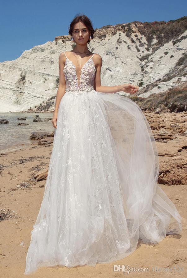 the latest 97491 871fe 2018 nuovi abiti da sposa V, coda da sogno da principessa, sposa sottile,  abito da sposa, abito da sposa leggero