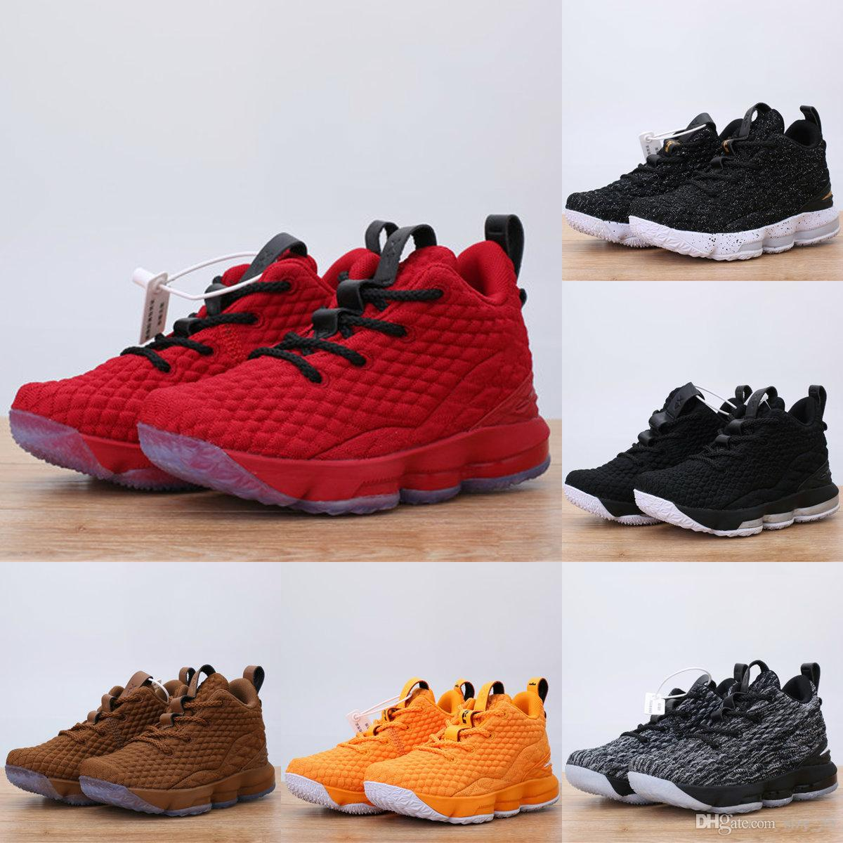 7cc567441a8 ... greece chaussures pour enfonts lebron 15 kids basketball shoes sneakers  youth boys shoes lebron 15 black