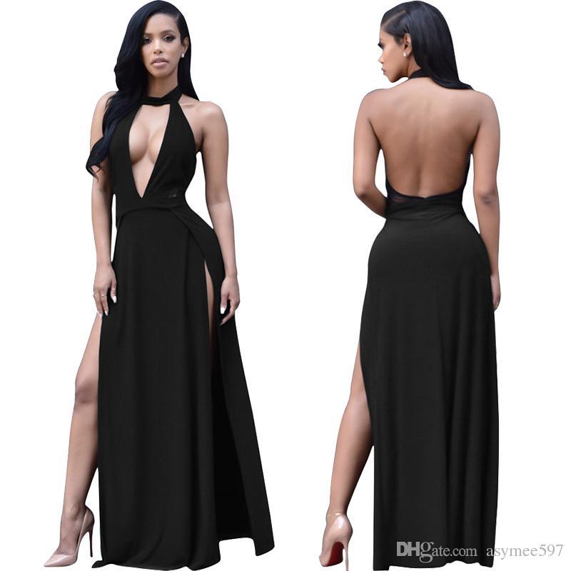 Colour Halter Dresses