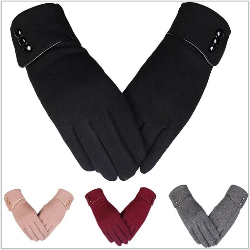 b348b50aab9 2019 Women S Solid Color Warm Lined Thick Touch Warmer Winter Screen Gloves  From Hoganr