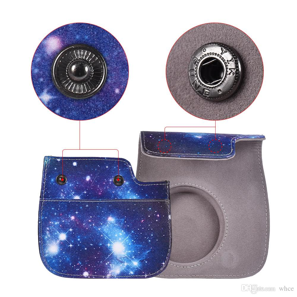 Starry Sky Pattern Pu Protective Instant Camera Case Bag Pouch 8s Instax One Piece Protector With Strap For Fujifilm Mini 8 9