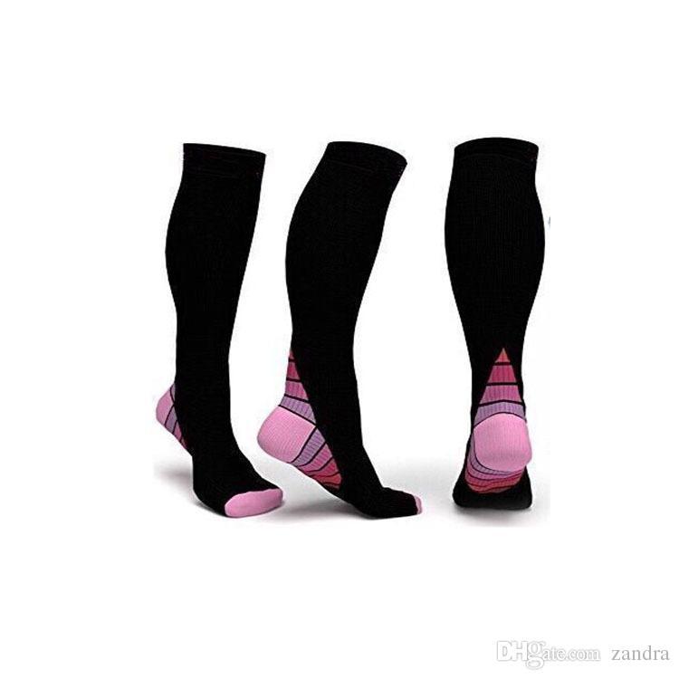 NEW Men and women Compression Socks gradient Pressure Circulation Anti-Fatigu Knee High Orthopedic Support Stocking AP194z