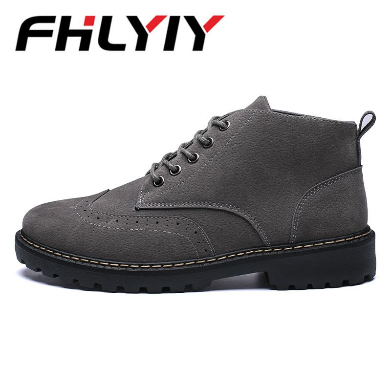 03c117255 2019 FHLYIY New Autumn New Casual Shoes Mens Pu Leather Flats Lace Up Shoes  Simple Stylish Male Shoes Oxford Martin Boots For Men Sneakers Mens Shoes  Mens ...
