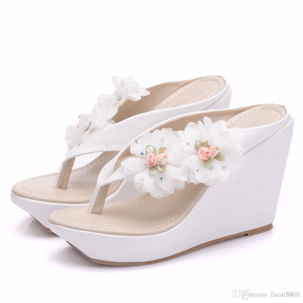 Sommer Frauen Flip Flop Sandalen Plattform Flip Flops Hausschuhe Sandalen Swing Keile Frauen Schuhe Plus Größe