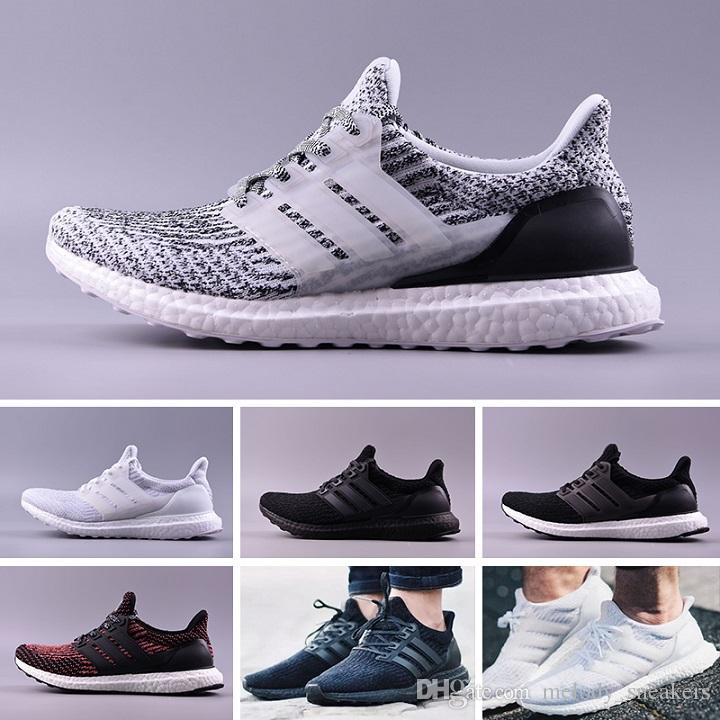 9c59ce3121ce2 Ultra Boo 3.0 4.0 Triple Black And White Primeknit Oreo CNY Blue Grey Men  Women Running Shoes Ultra Boosts Ultrabo Sport Sneakers Womens Shoes Cheap  Shoes ...