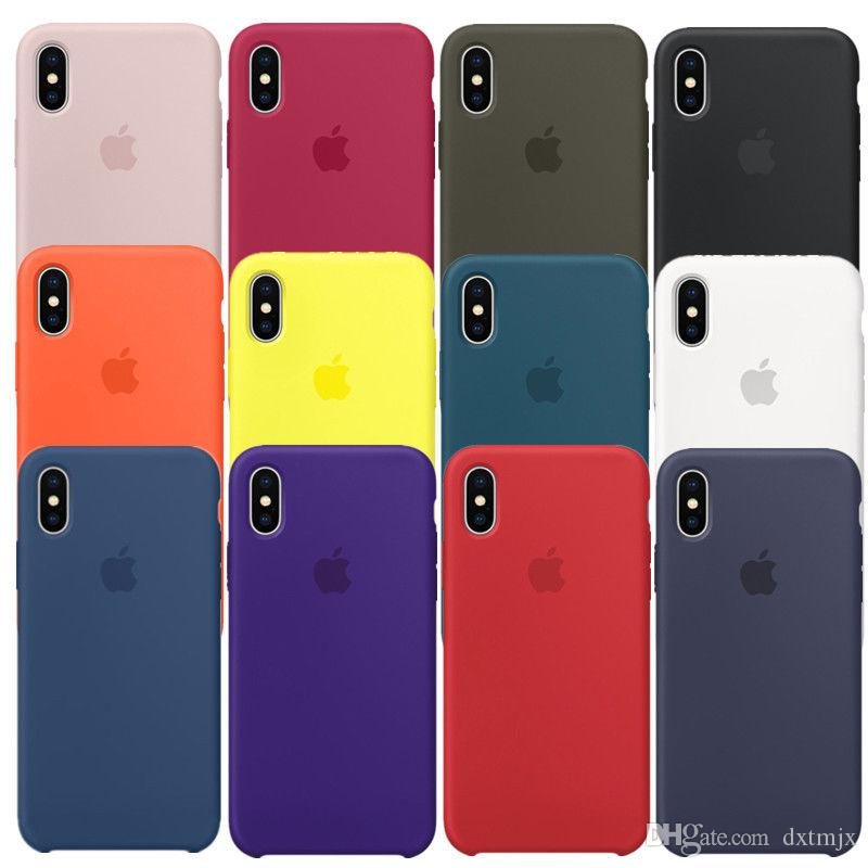 check out 93f55 42dd9 Original Silicone TPU Back Case Cover For Apple iPhone X Silicone Case