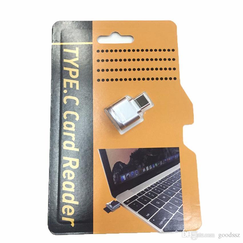 타입 C 마이크로 SD SDHC SDXC TF 카드 리더 삼성 S8 LG G6 G5 V20 미니 금속 OTG 어댑터 Xiaomi 화웨이 P9 P10 크롬 북 OnePlus