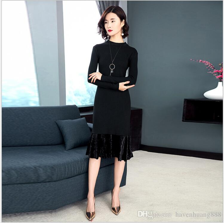 2b5f95c798f 2018 Spring New Korean Fashion Elegance Slim Thin Gold Velvet ...