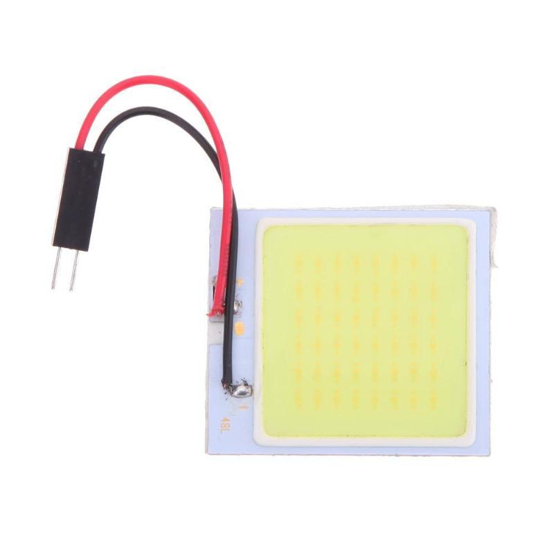 Auto Led Light Cob 48 SMD Chip Super White Automóvil Lámpara de Lectura 12v Coche Cúpula Bombilla Interior Luz Diodo Luz Panel