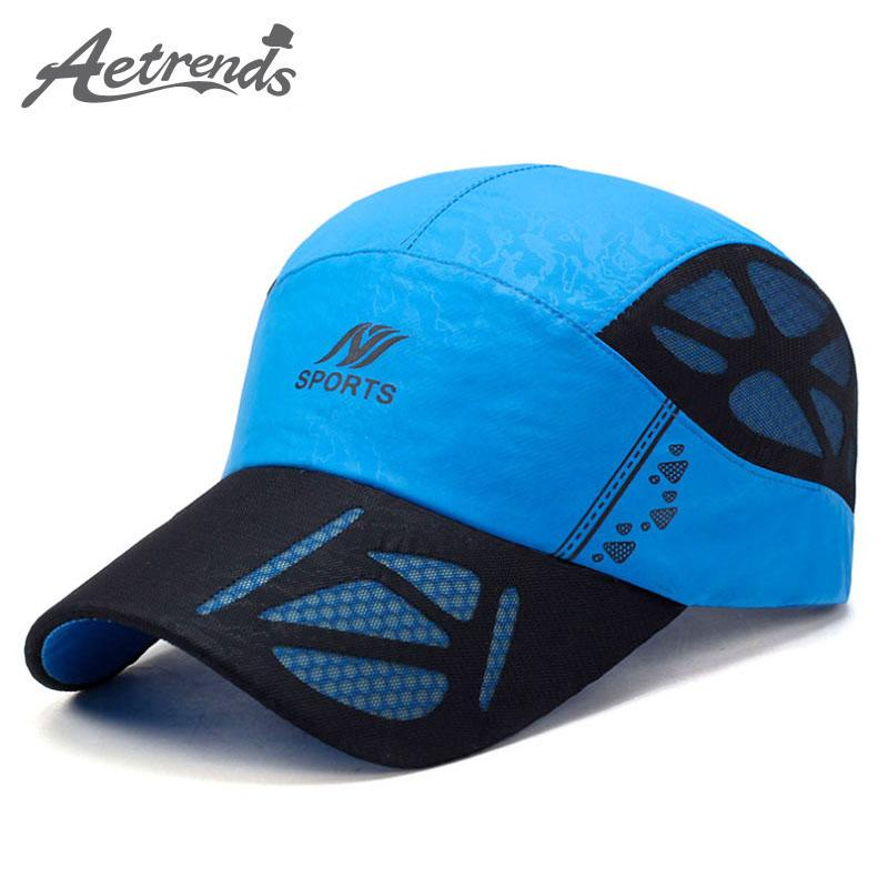 8010540e47e Aetrends 2017 Summer Baseball Cap Men Casual Casquette Breathable Quick  Drying Mesh Hats Women Sunshade Caps Z 5075 Starter Cap Big Hats From  Dhcomcn
