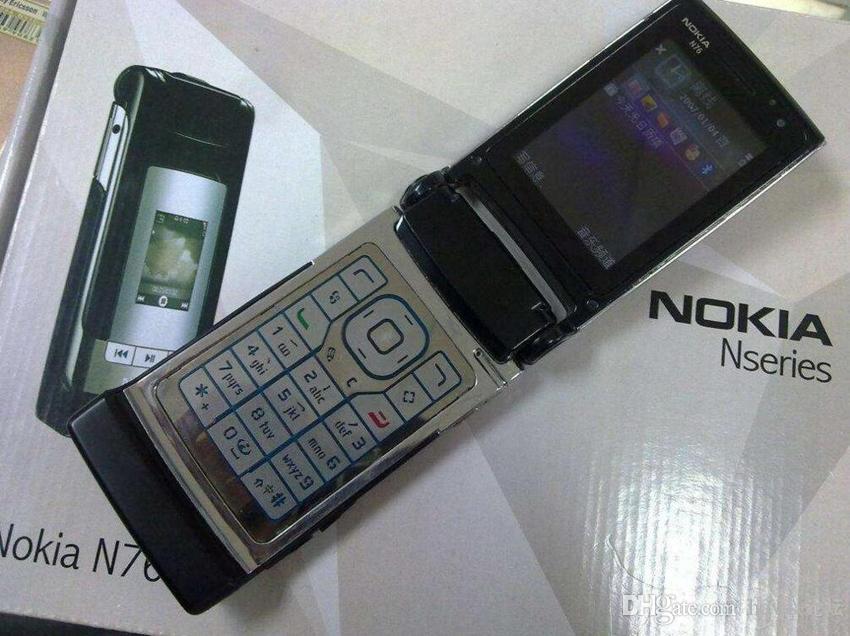 Refurbished Original Nokia N76 Flip Fold Phone Symbian 2.4 inch Screen 2MP Camera Bluetooth Cheap Cellphone Free Post Shipping