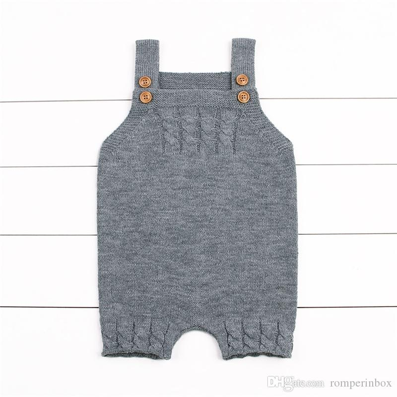 b0286baac 2019 Newborn Baby Knitted Rompers Toddler Girls Boys Winter Solid Cute  Overalls Baby Jumpsuit Casual One Piece Infantil Outfit Warm From  Romperinbox, ...
